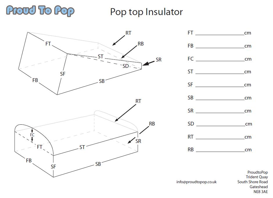 Custom Made Campervan Pop Top Insulators Insulators
