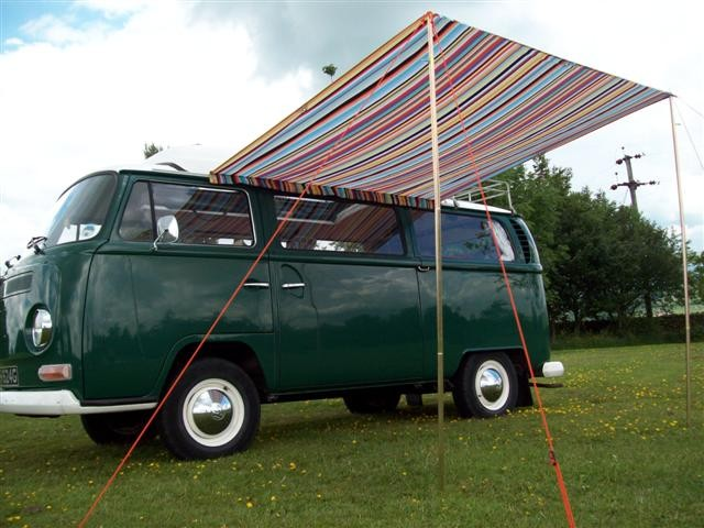 ... Printed Sun Canopy - Shown from the underside with light shining through ... & Campervan Sun Canopy | ProudtoPop