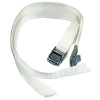 Roof Hold Down Straps - White Pair