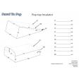 Custom Made Campervan Pop Top Insulators