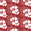 Cherry Red Hawaiian Print Design