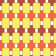 Orange Retro Oblongs