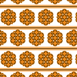 Orange Seventies Stripe Design