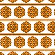Orange Seventies Stripe Design