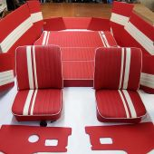 T2 Pin Stripe Rock and Roll Bed Cushions and Covers