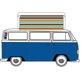 VW T2 Dormobile Side Elevating Pop Top Canvas
