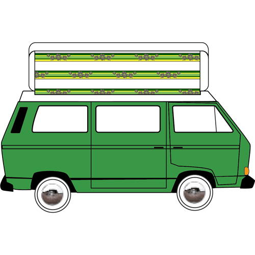 VW T25 Devon Side Elevating 1980-1990 Replacement Pop Top Canvas