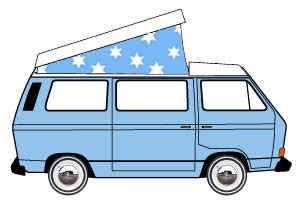 VW T25 Westfalia Rear Hinge Roof