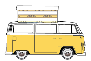 VW T2 Danbury Poptop Roof