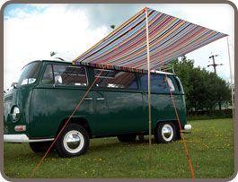 Camper Multi Stripe Sun Canopy